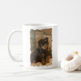 Yorkshire terrier coffee mug vintage illustration