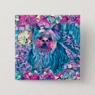 Yorkshire Terrier Dog #2 Button