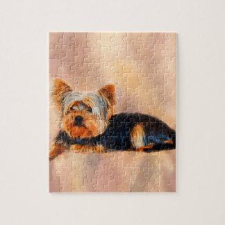 Yorkshire Terrier Dog Art Watercolor Portrait Jigsaw Puzzle