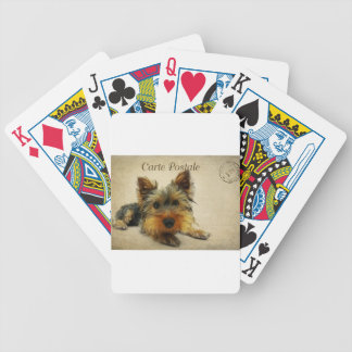 Yorkshire Terrier Dog Bicycle Playing Cards