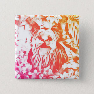 Yorkshire Terrier Dog Button