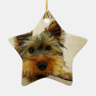 Yorkshire Terrier Dog Ceramic Ornament