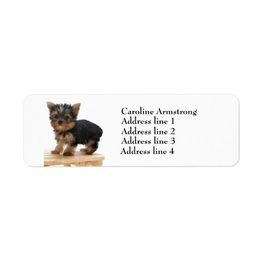 Yorkshire Terrier dog custom return address labels