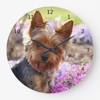 Yorkshire Terrier dog cute beautiful clock