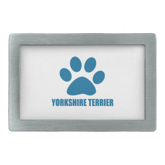 YORKSHIRE TERRIER DOG DESIGNS BELT BUCKLE