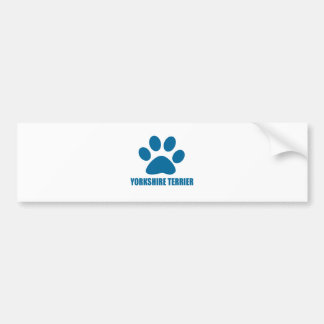 YORKSHIRE TERRIER DOG DESIGNS BUMPER STICKER
