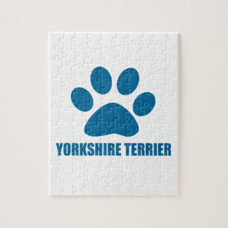 YORKSHIRE TERRIER DOG DESIGNS JIGSAW PUZZLE