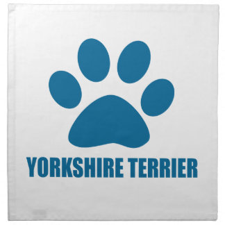 YORKSHIRE TERRIER DOG DESIGNS NAPKIN