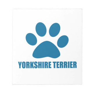 YORKSHIRE TERRIER DOG DESIGNS NOTEPAD