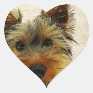 Yorkshire Terrier Dog Heart Sticker
