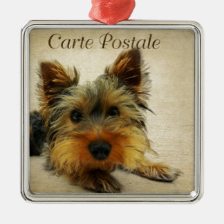Yorkshire Terrier Dog Metal Ornament