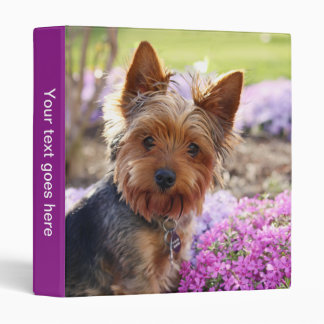 Yorkshire Terrier dog photo album, binder, folder Binders