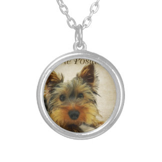 Yorkshire Terrier Dog Silver Plated Necklace