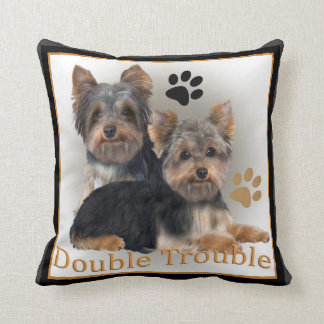 Yorkshire Terrier Double Trouble Pillows