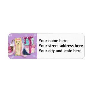 Yorkshire Terrier Dress Up Return Address Label