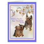 Yorkshire Terrier Eggs -Traordinary Easter Wishes Card