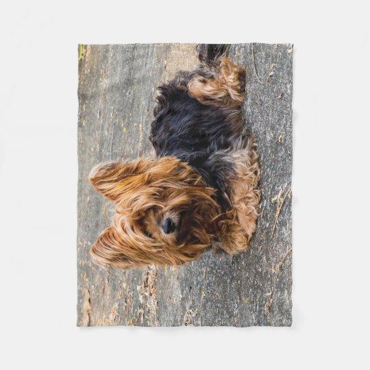 Yorkshire Terrier Fleece Blanket