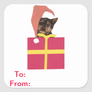 Yorkshire Terrier Gift Tags Sticker
