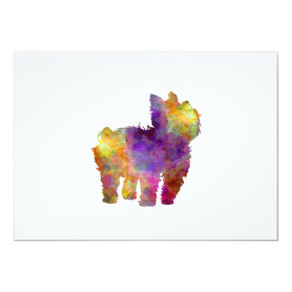 Yorkshire Terrier in watercolor 2 Card
