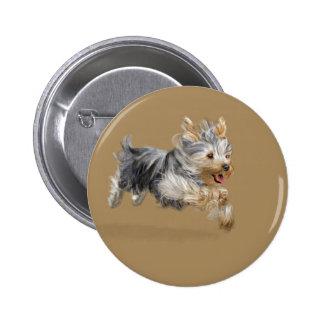 """Yorkshire Terrier """"Joy"""" 2 Inch Round Button"""