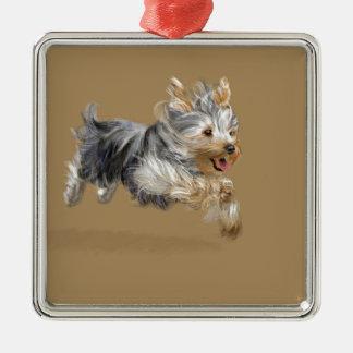 "Yorkshire Terrier ""Joy"" Metal Ornament"