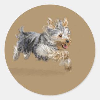 """Yorkshire Terrier """"Joy"""" Round Sticker"""