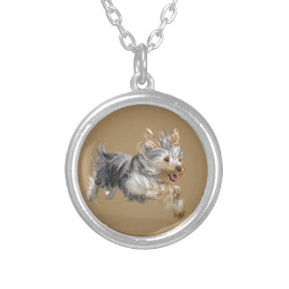 """Yorkshire Terrier """"Joy"""" Silver Plated Necklace"""