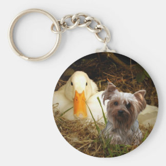 Yorkshire Terrier Keychain With Duck