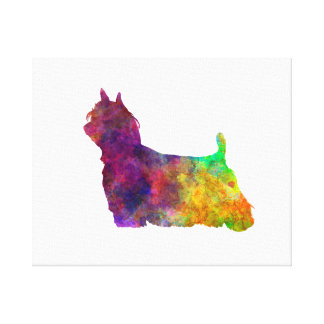 Yorkshire Terrier Long Hair in watercolor Canvas Print