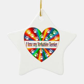 Yorkshire Terrier Love Ceramic Ornament
