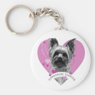 Yorkshire Terrier Love Heart Keychain