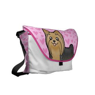 Yorkshire Terrier Love (long hair no bow) Messenger Bags