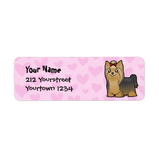 Yorkshire Terrier Love (longhair with bow)