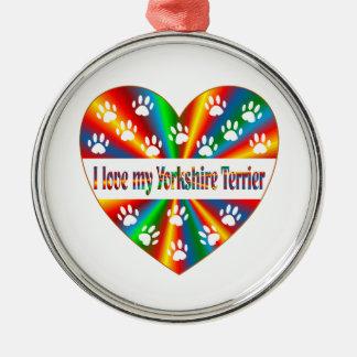 Yorkshire Terrier Love Metal Ornament