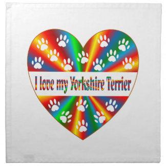 Yorkshire Terrier Love Napkin