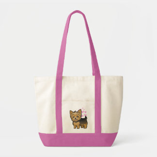 Yorkshire Terrier Love (short hair no bow) Tote Bag