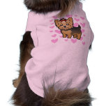 Yorkshire Terrier Love (short hair with bow) Pet Tee Shirt