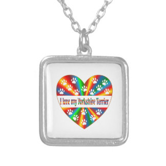 Yorkshire Terrier Love Silver Plated Necklace