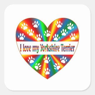 Yorkshire Terrier Love Square Sticker