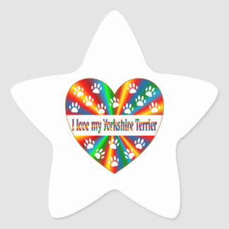 Yorkshire Terrier Love Star Sticker