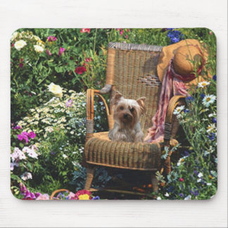 Yorkshire Terrier Mousepad Garden