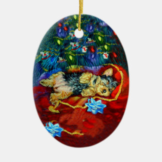 Yorkshire Terrier Oval Ornament