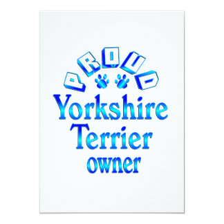 Yorkshire Terrier Owner Card