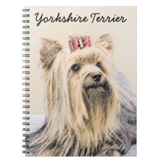Yorkshire Terrier Painting - Cute Original Dog Art Notebooks