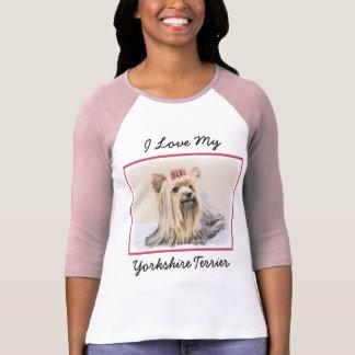 Yorkshire Terrier Painting - Cute Original Dog Art T-Shirt