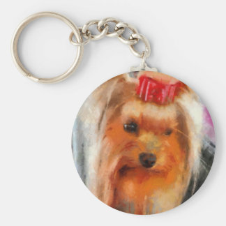 Yorkshire Terrier  Painting Key Chain