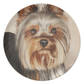 Yorkshire Terrier Painting Party Plate