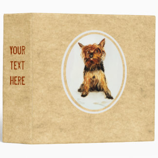Yorkshire Terrier Painting Vinyl Binder