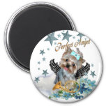 Yorkshire Terrier Perfect Angel 2 Inch Round Magnet