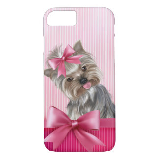 Yorkshire Terrier Pink Princess Yorkie Puppy Dog iPhone 8/7 Case